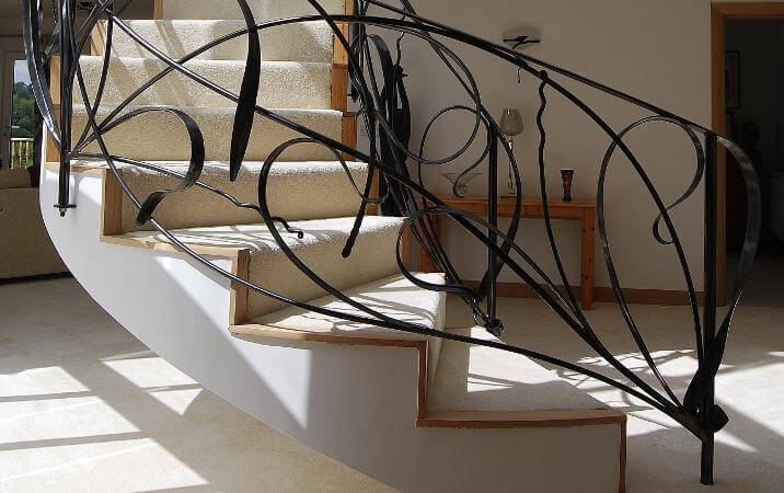 Contemporary metal staircases
