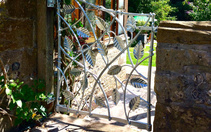 blacksmith made leaf gate devon