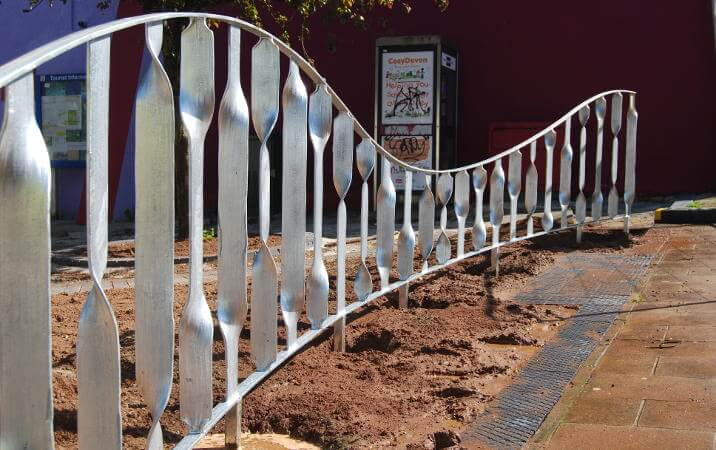 wrought iron metal railings