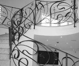 interior wrought ironwork gallery